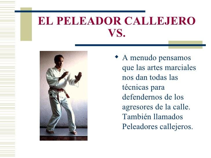 EL PELEADOR CALLEJERO VS. <ul><li>A menudo pensamos que las artes marciales nos dan todas las técnicas para defendernos de...