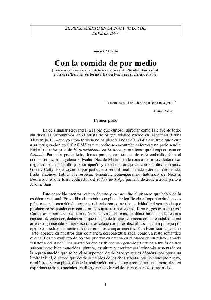 'El Pensamiento en la Boca' CAJASOL (Sema D'Acosta)