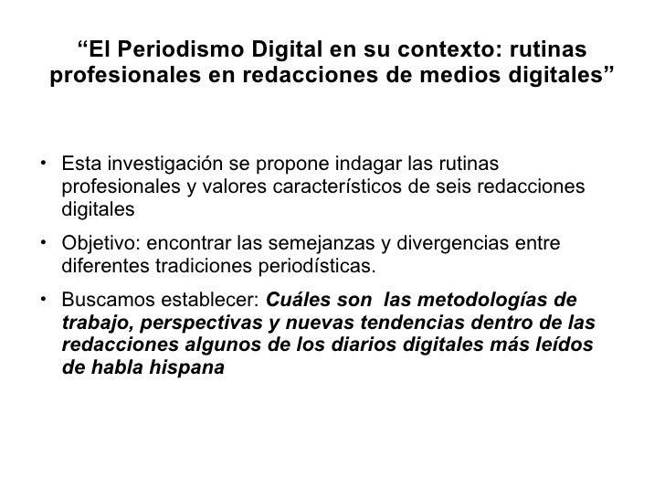 El periodismo digital ponencia