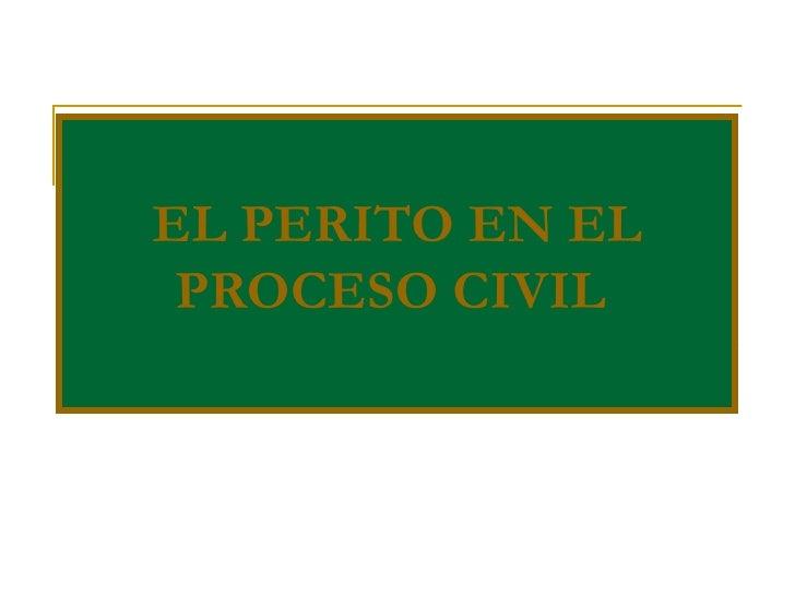 El Perito En El Proceso Civil