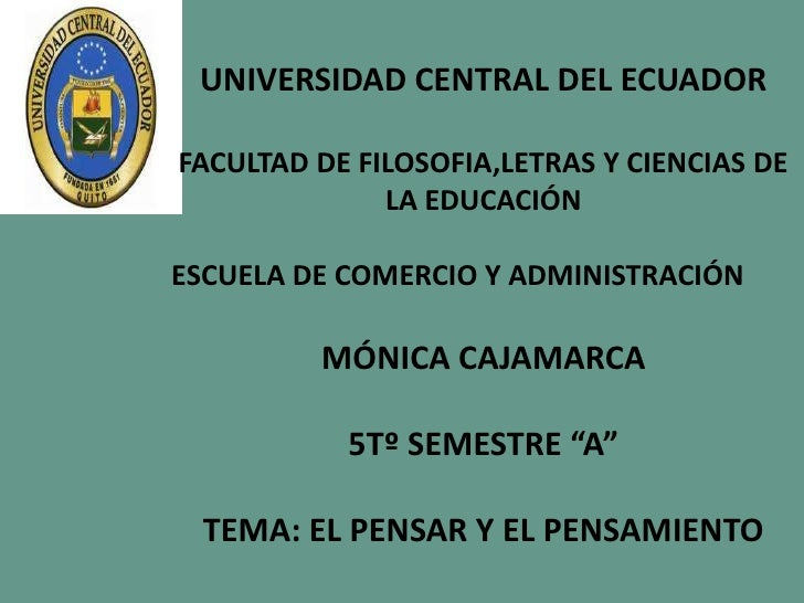 UNIVERSIDAD CENTRAL DEL ECUADORFACULTAD DE FILOSOFIA,LETRAS Y CIENCIAS DE              LA EDUCACIÓNESCUELA DE COMERCIO Y A...