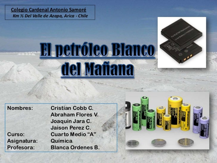 Colegio Cardenal Antonio Samoré Km ½ Del Valle de Azapa, Arica - ChileNombres:            Cristian Cobb C.                ...