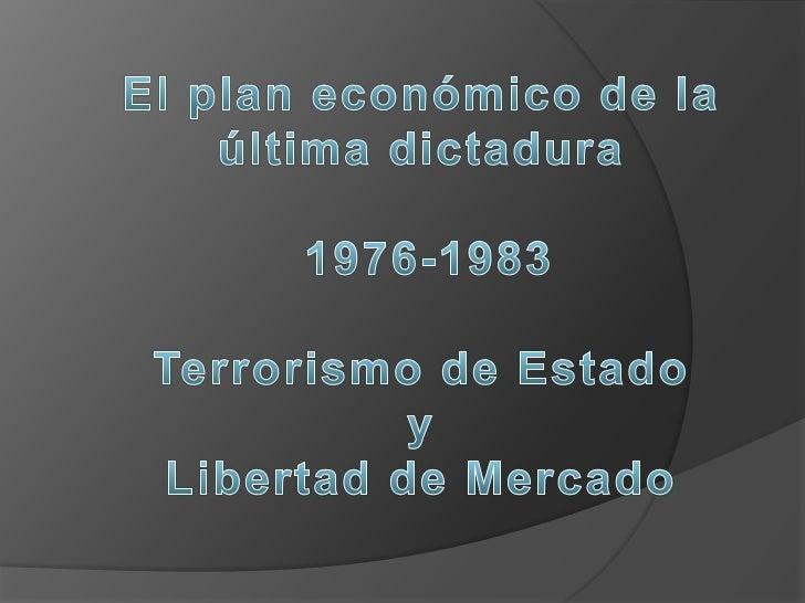 Década del 70              Crisis y reconversión capitalista                     Desde 1930 el modelo                     ...