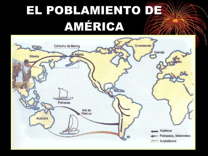 EL POBLAMIENTO DE AMÉRICA