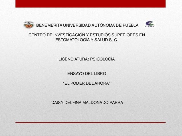 BENEMERITA UNIVERSIDAD AUTÓNOMA DE PUEBLA CENTRO DE INVESTIGACIÓN Y ESTUDIOS SUPERIORES EN ESTOMATOLOGÍA Y SALUD S. C. LIC...