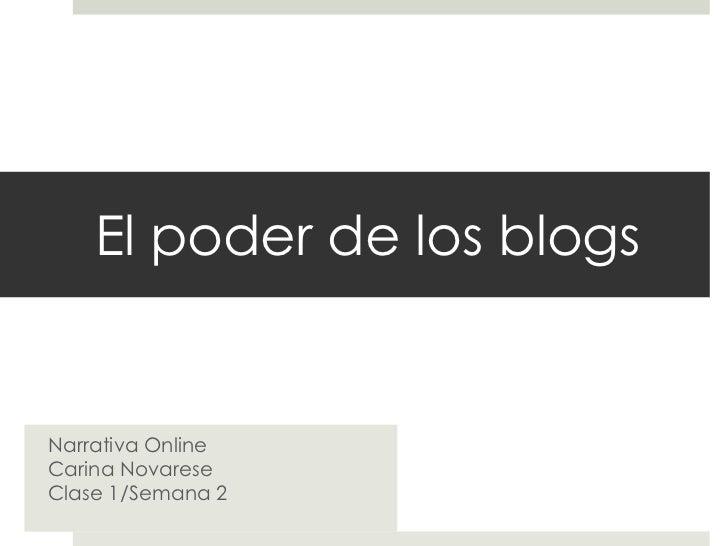 El poder de los blogs