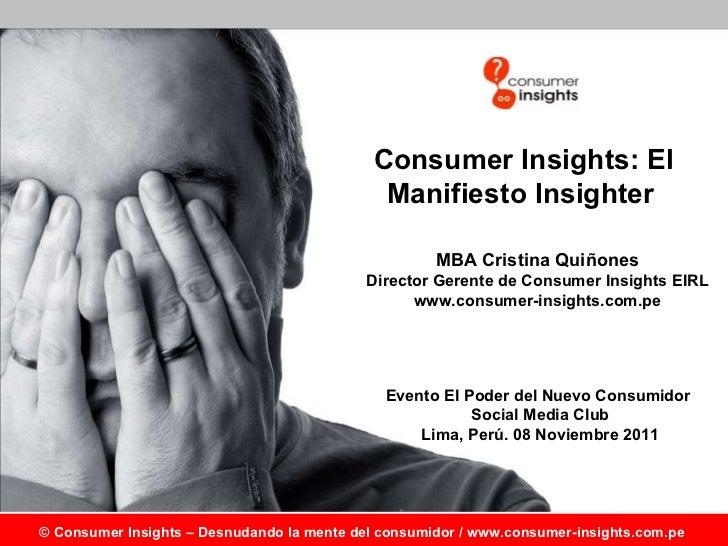 Manifiesto Insighter - El Poder del Nuevo Consumidor