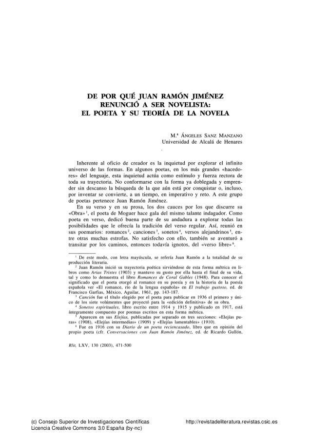 DE POR QUÉ JUAN RAMÓN JIMÉNEZ                          RENUNCIÓ A SER NOVEOSTA:                      EL POETA Y SU TEORÍA ...