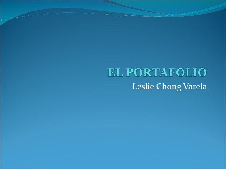 Leslie Chong Varela