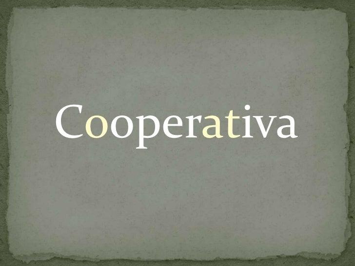Cooperativa<br />