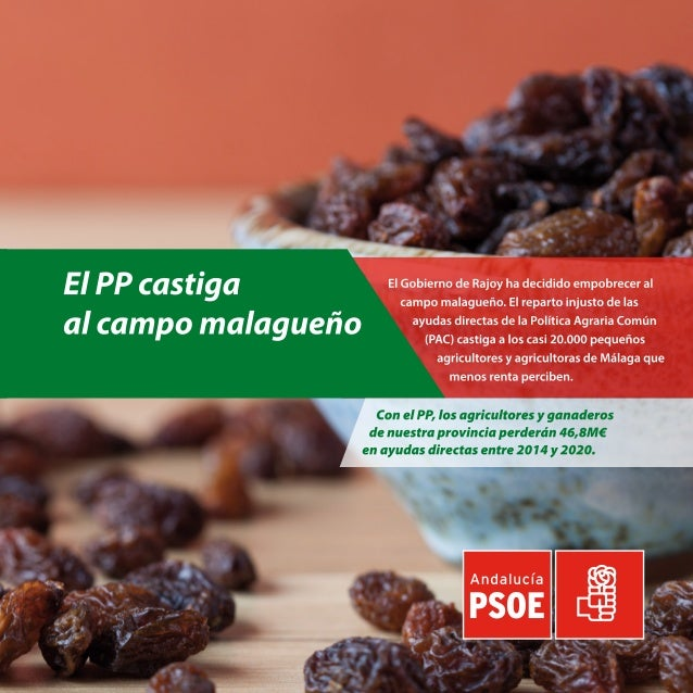 El PP castiga al campo de la provincia de Malaga