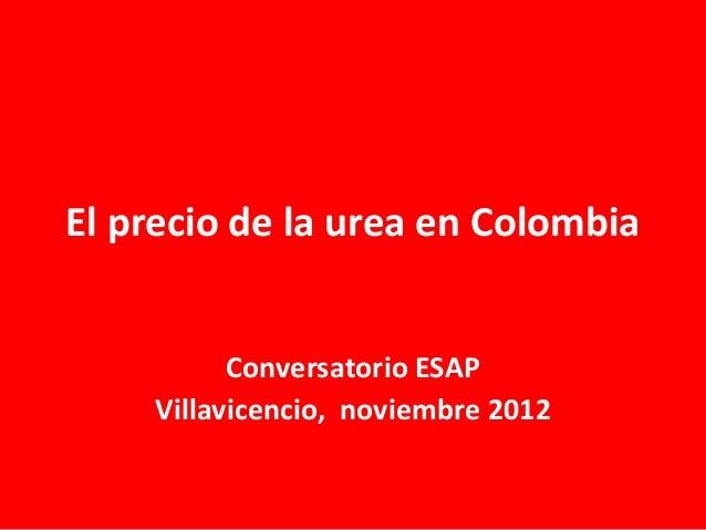 El precio de la urea en colombia