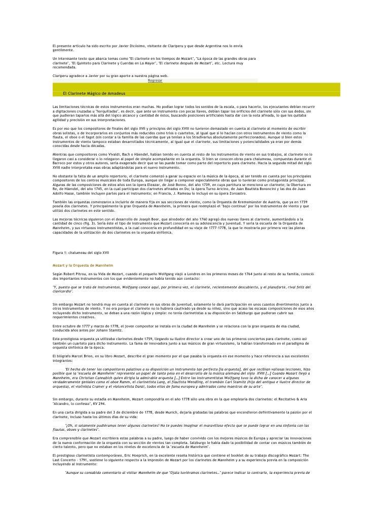 El presente artículo ha sido escrito por Javier Dicósimo, visitante de Clariperu y que desde Argentina nos lo envíagentilm...