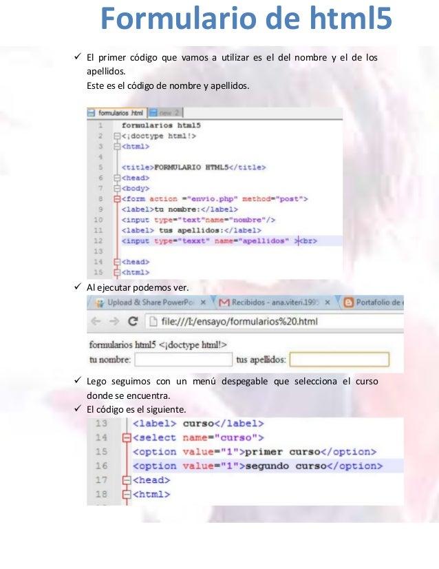  El primer código que vamos a utilizar es el del nombre y el de losapellidos.Este es el código de nombre y apellidos. Al...