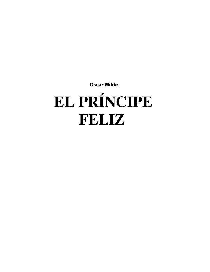 Oscar WildeEL PRÍNCIPE   FELIZ