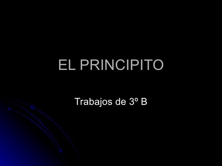 EL PRINCIPITO Trabajos de 3º B