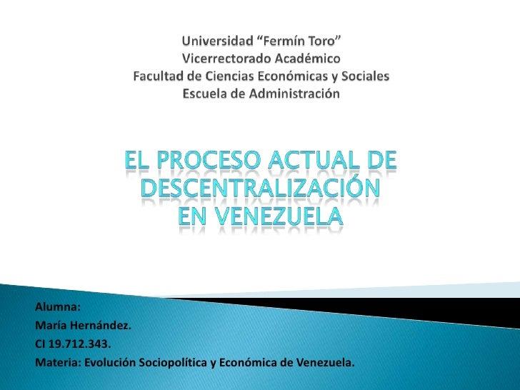 """Universidad """"Fermín Toro""""Vicerrectorado AcadémicoFacultad de Ciencias Económicas y SocialesEscuela de Administración<br />..."""