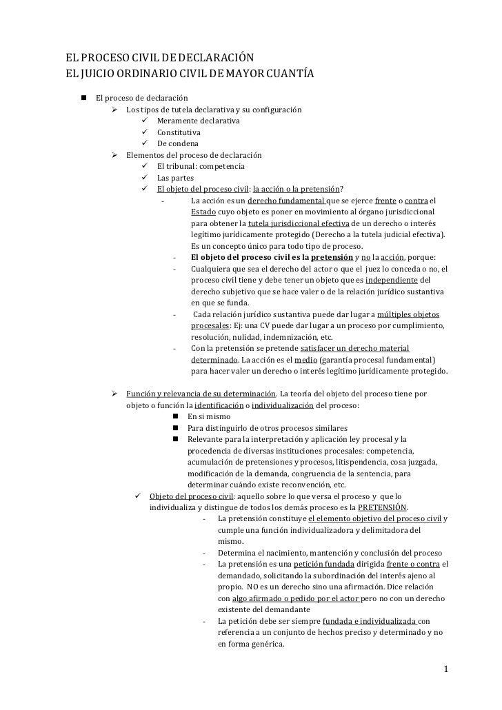 El proceso civil de declaraci n for Consulta demanda de empleo
