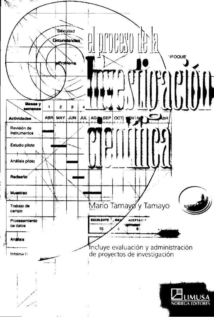 El Proceso De Investigacion Cientifica   Mario Tamayo Y Tamayo[1]