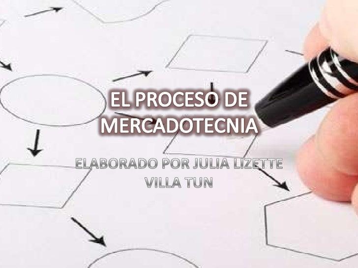 EL PROCESO DE MERCADOTECNIA<br />ELABORADO POR JULIA LIZETTE VILLA TUN<br />