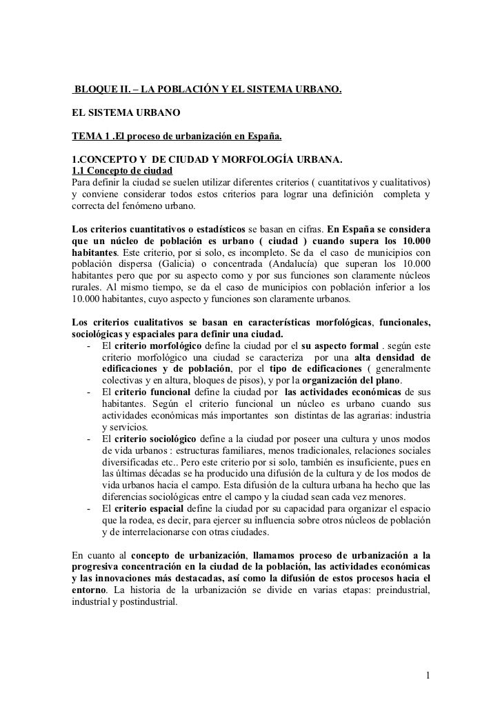 El proceso de urbanización en España. Comentario de cuatro planos urbanos.
