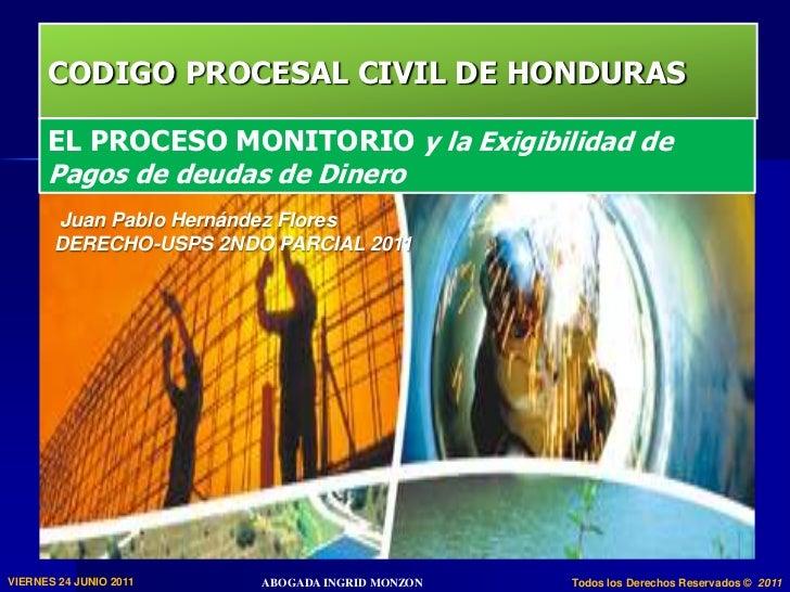 El proceso monitorio art 676 685