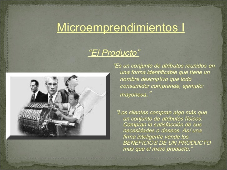 El producto - Microemprendimiento I