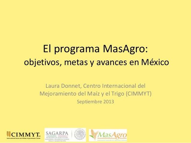 El programa mas agro presentacion estudios con inifap_25sep13