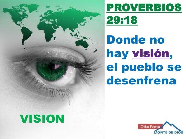 PROVERBIOS         29:18         Donde no         hay visión,         el pueblo se         desenfrenaVISION