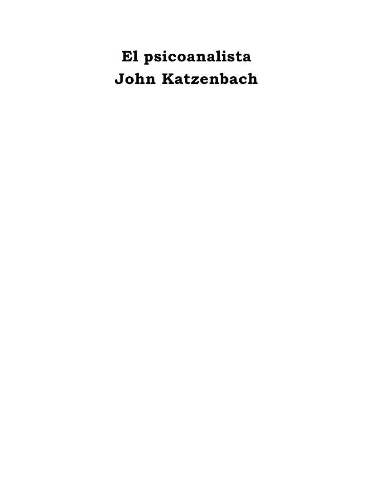 El psicoanalista John Katzenbach