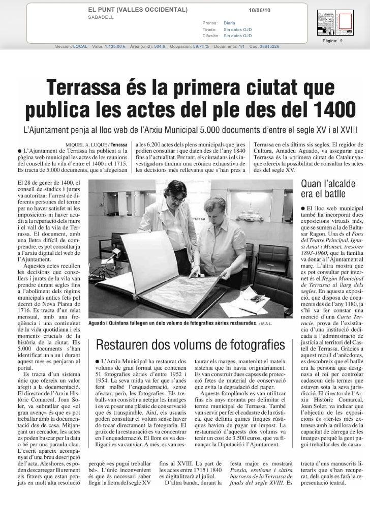 EL PUNT (VALLES OCCIDENTAL)                                                    10/06/10                  SABADELL         ...