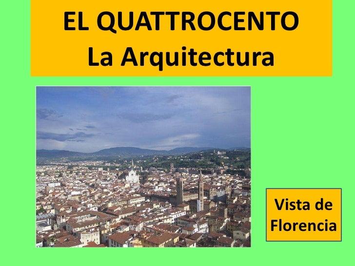 la arquitectura del quattrocento