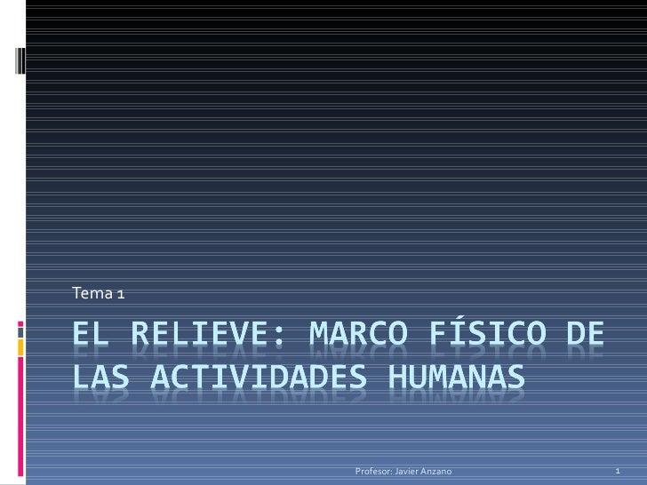 Tema 1 Profesor: Javier Anzano