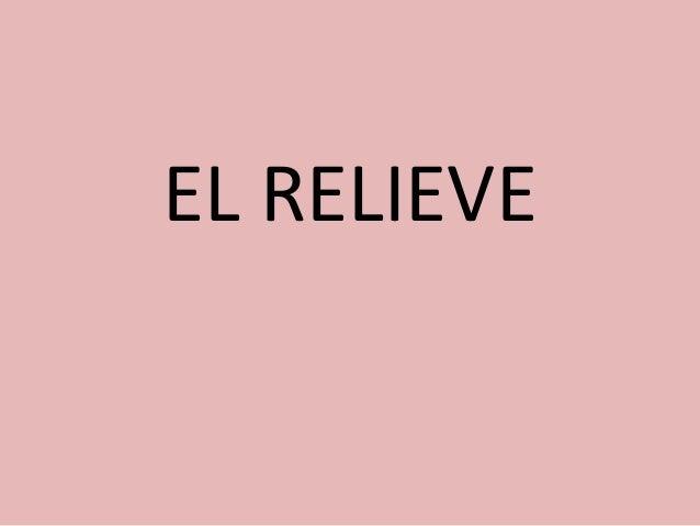 EL RELIEVE