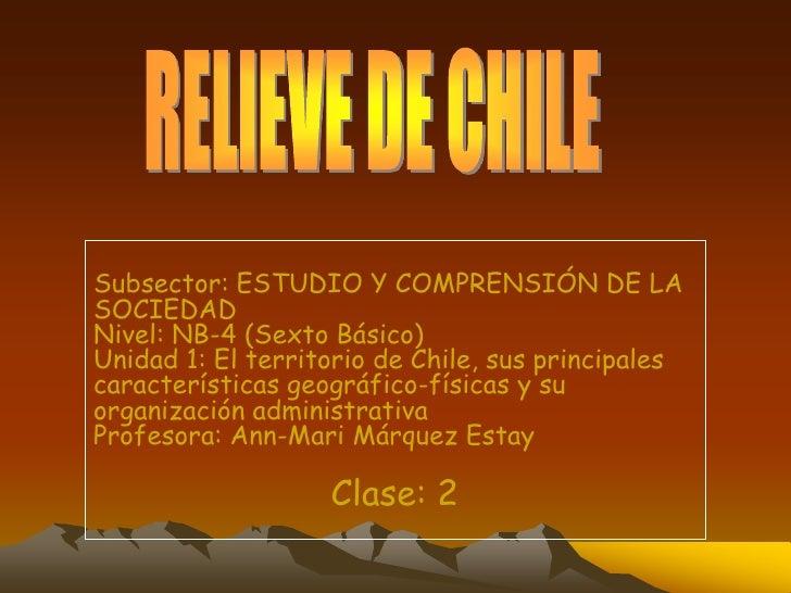 El relieve chileno
