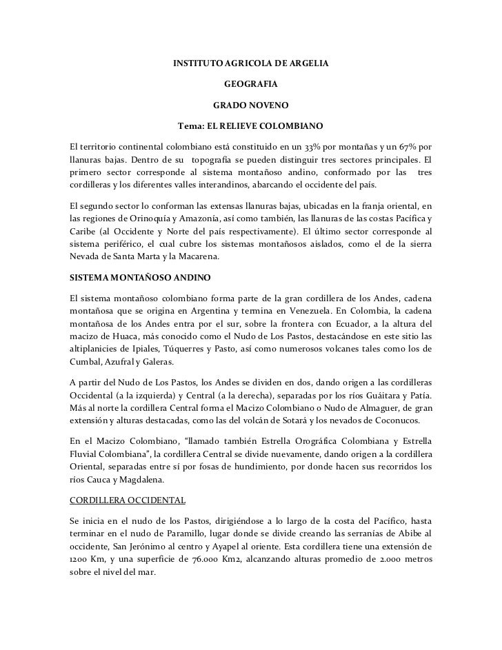 INSTITUTO AGRICOLA DE ARGELIA                                        GEOGRAFIA                                     GRADO N...
