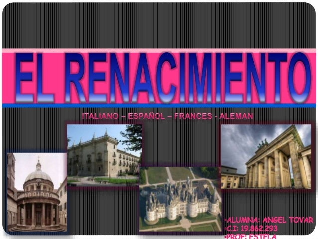 Se denomina Renacimiento al movimiento cultural que surge en Europa el siglo XIV, caracterizado por un renovado interés po...