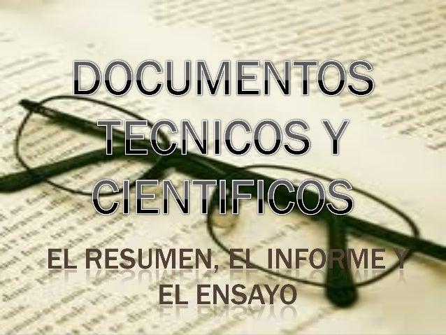 DOCUMENTOS TECNICOS Y CIENTIFICOS