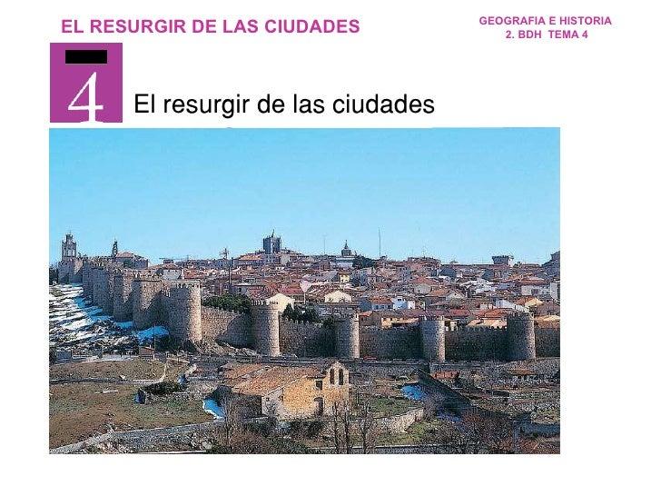 El resurgir de las ciudades TEMA
