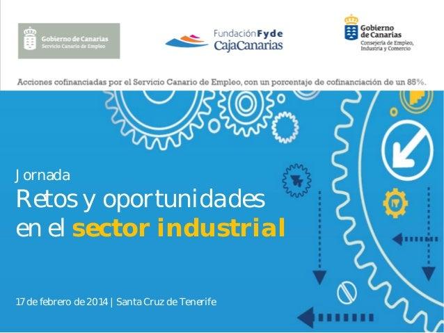 Jornada  Retos y oportunidades en el sector industrial 17 de febrero de 2014   Santa Cruz de Tenerife