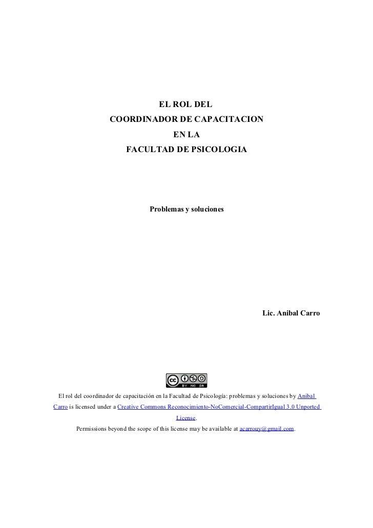 EL ROL DEL                     COORDINADOR DE CAPACITACION                                              EN LA             ...