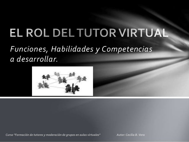 El rol del tutor virtual