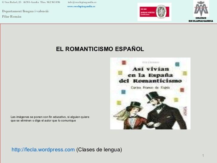 C/ San Rafael, 25  46701-Gandia  Tfno. 962 965 096    [email_address]   www.escolapiasgandia.es Departament llengua i vale...