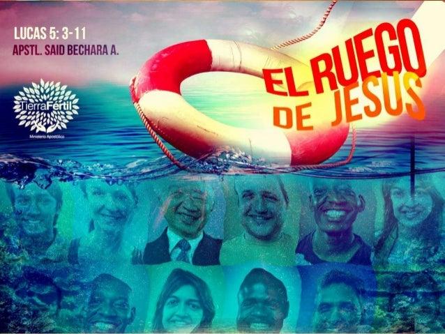 JESÚS entró en una de aquellas barcas, la cual era de Simón y le *ROGÓ que la apartara de tierra un poco. Luego, sentándos...