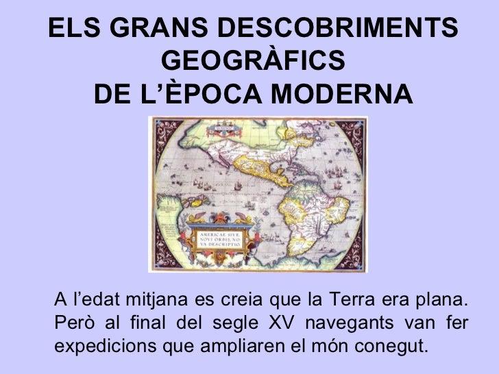 Els grans descobriments geogràfics