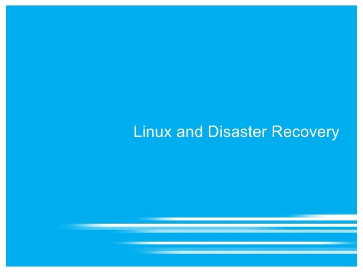 linux and disaster recovery 4 disaster recovery strategies copy files