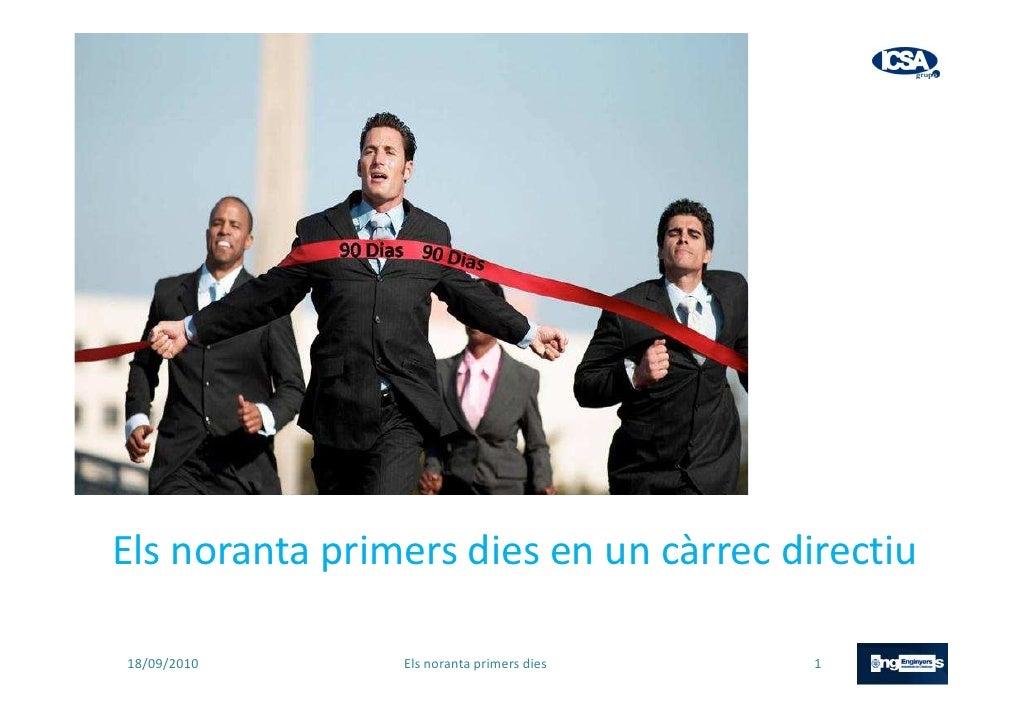 ELS PRIMERS NORANTA DIES - COEIC el 16 set 2010