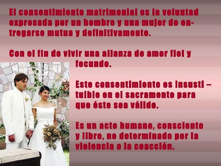 Consentimiento Matrimonial Catolico Formula : El sacramento del matrimonio