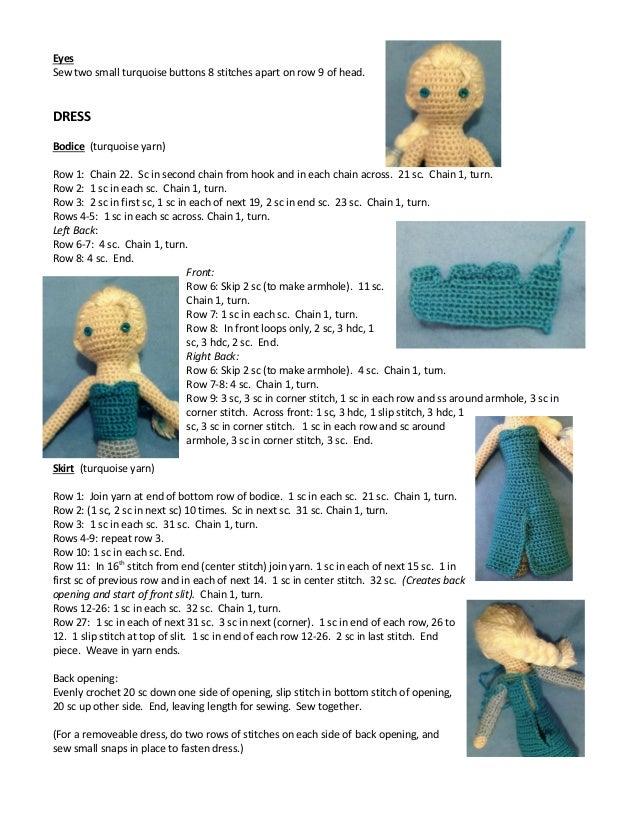 Crochet Frozen Doll Free Pattern : Frozen. Elsa crocheted doll pattern