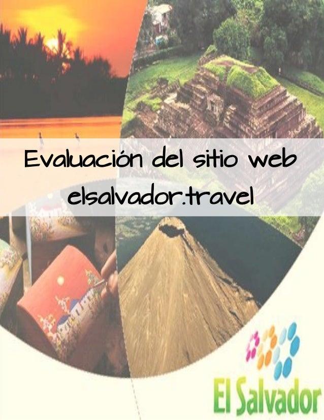 Evaluación del sitio web elsalvador.travel